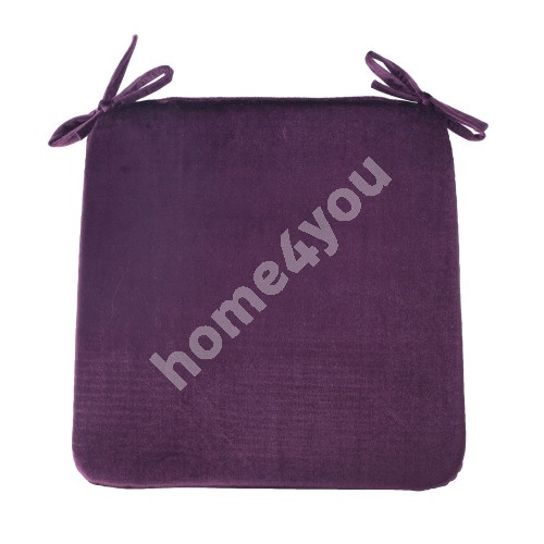 Chair pad DELUXE 2 39x39x2,5cm, dark bordeaux, 100%polyester, fabric-843