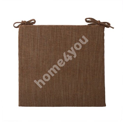 Chair pad GLORY 2, 45/41x40cm, thickness 3cm, brown, 70%polyester, 30%viscose, fabric-850