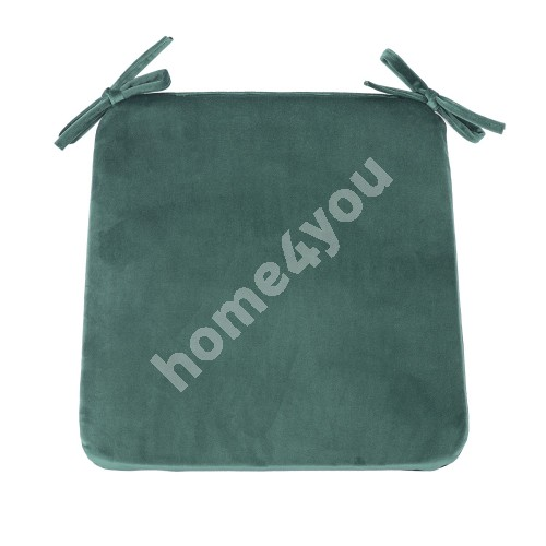 Cushion for chair VELVET 39x39x2,5cm, green, 100% polyester, fabric-882