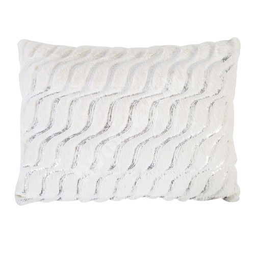Pillow SOFT ME 38x50cm with zipper, 100% polyester, silver spangle, fabric 242