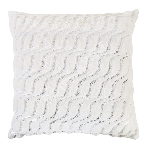 Pillow SOFT ME 50x50cm with zipper, 100% polyester, silver spangle, fabric 242
