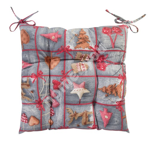 Cushion for chair LOVE & LOVE 40x40cm, 50%cotton / 50%polyester, fabric-177