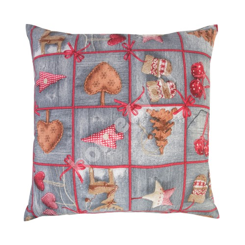 Pillow LOVE & LOVE 45x45cm, 50%cotton / 50%polyester, fabric-177