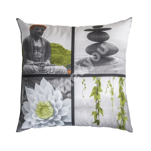 Pillow HOLLY 45x45cm, 80%cotton, 20%polyester, fabric-712