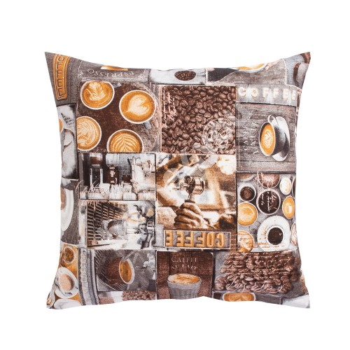 Pillow HOLLY 45x45cm, coffee