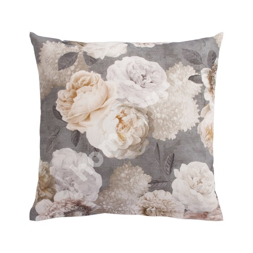 Pillow HOLLY 45x45cm, grey flowers