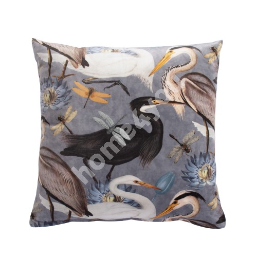 Pillow HOLLY 45x45cm, birds and water lilies