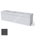 Voodiotsapink ULVASEN 180x50xH46cm, panipaigaga, BLACK mööblikangaga, tumehall