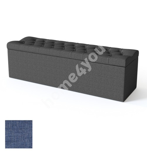Voodiotsapink SOLHALL 150x50xH46cm, panipaigaga, BLACK mööblikangaga, sinine
