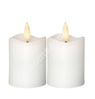 LED-küünlad 2tk FLAMME D5xH7,5cm, valge, taimer 6h