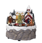 Christmas decoration TRAINVILLE 12x12xH12cm, with LED-light, RGB, multi