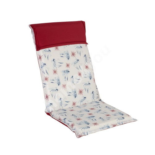 Chair pad with backrest FLORIDA SEA 48x115