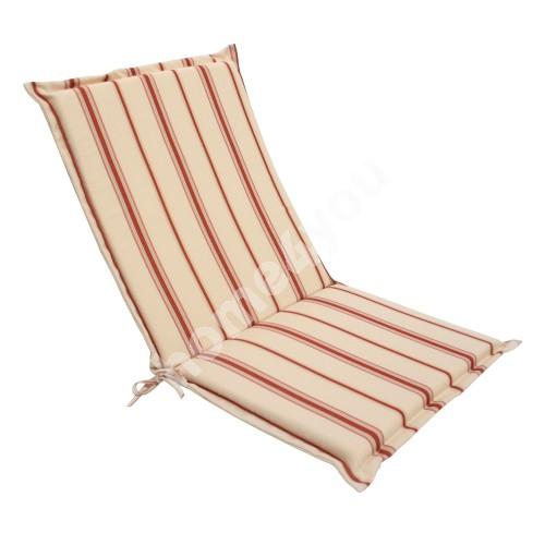 Chair pad FLORIDA with back rest, 42x90x 4,5cm, fabric 624, 100% polyester