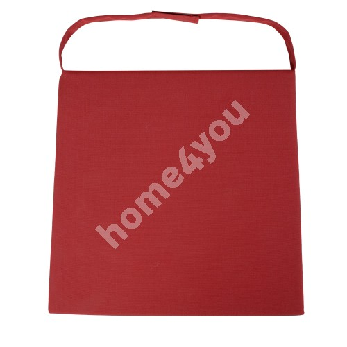 Chair pad WICKER 2-3, 48x46x3cm, red