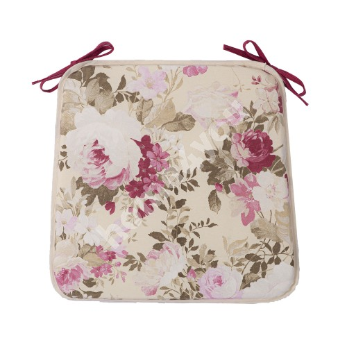 Toolikate FLORIDA ROSE 39x39x2,5cm, heledad roosid/bordoo