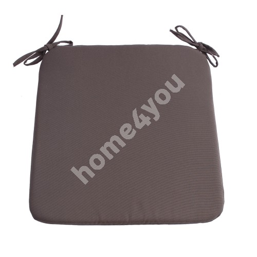 Chair pad FRANKFURY 2, 39x39xH2,5cm, brown, 100%polyester, fabric 837