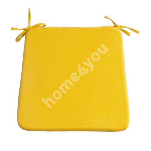 Chair pad FRANKFURY 2, 39x39xH2,5cm, yellow, 100%polyester, fabric 838