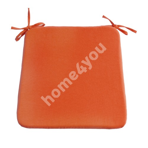 Chair pad FRANKFURY 2, 39x39xH2,5cm, orange, 100%polyester, fabric 839