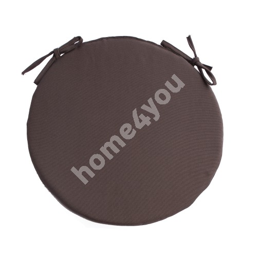 Chair pad FRANKFURY 2, D38xH2,5cm, brown, 100%polyester, fabric 837