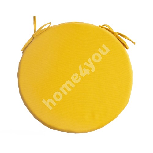 Chair pad FRANKFURY 2, D38xH2,5cm, yellow, 100%polyester, fabric 838