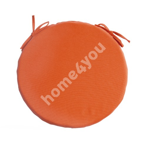 Chair pad FRANKFURY 2, D38xH2,5cm, orange, 100%polyester, fabric 839