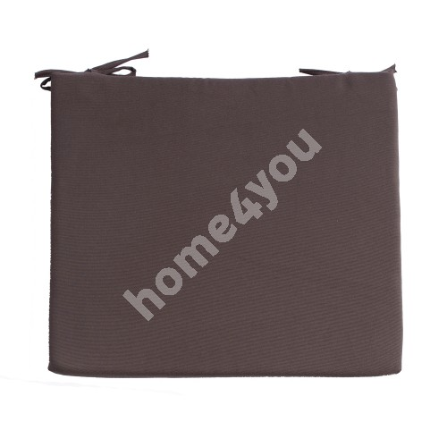 Chair pad FRANKFURY 2, 43x38xH2,5cm, brown, 100%polyester, fabric 837