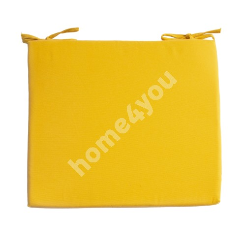 Chair pad FRANKFURY 2, 43x38xH2,5cm, yellow, 100%polyester, fabric 838