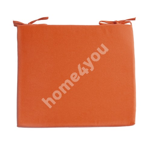 Chair pad FRANKFURY 2, 43x38xH2,5cm, orange, 100%polyester, fabric 839