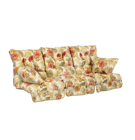 Подушки для качелей ROMA 56x108см/3штб цветы на бежевом фоне