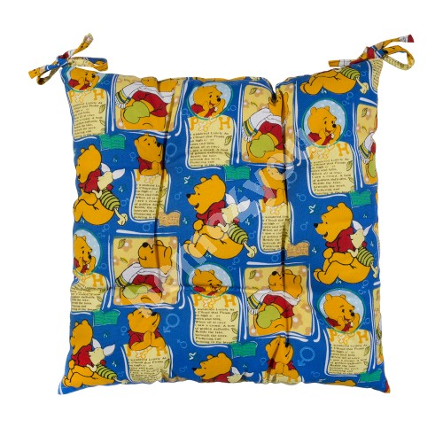 Cushion for chair SUMMER 40x40cm, 50% polyester / 50% cotton, Winnie The Pooh