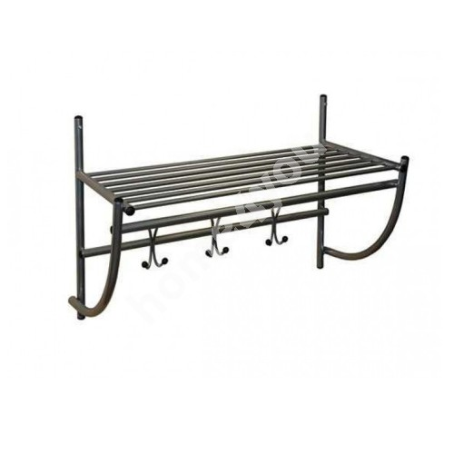 Wall coat rack ALTO, 75x50x35cm, dark silver
