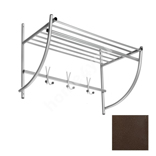 Wall coat rack ALTO, 75x50x35cm, antique bronze