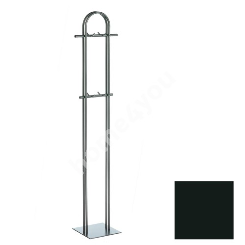 Coat rack ANNA-2, 40x172x12cm, base 29x29cm, black