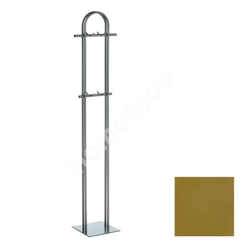 Coat rack ANNA-2, 40x172x12cm, base 29x29cm, golden