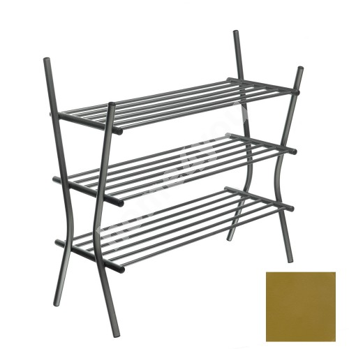 Shoe shelves ZEBRA 3, 75x69x28cm, golden