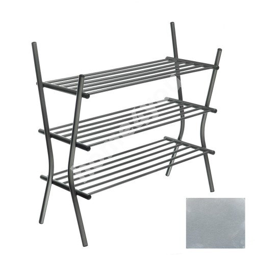 Shoe shelves ZEBRA 3, 75x69x28cm, aluminum metallic