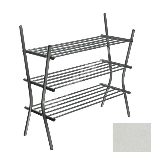 Shoe shelves ZEBRA 3, 75x69x28cm, metallic