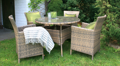 Outdoor furniture set WICKER